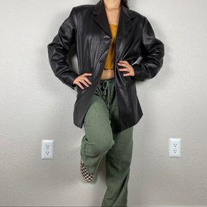 🌻 Preston and York black leather jacket
